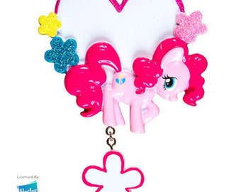 MLP Pinkie Pie Heart Personalized Christmas Ornament