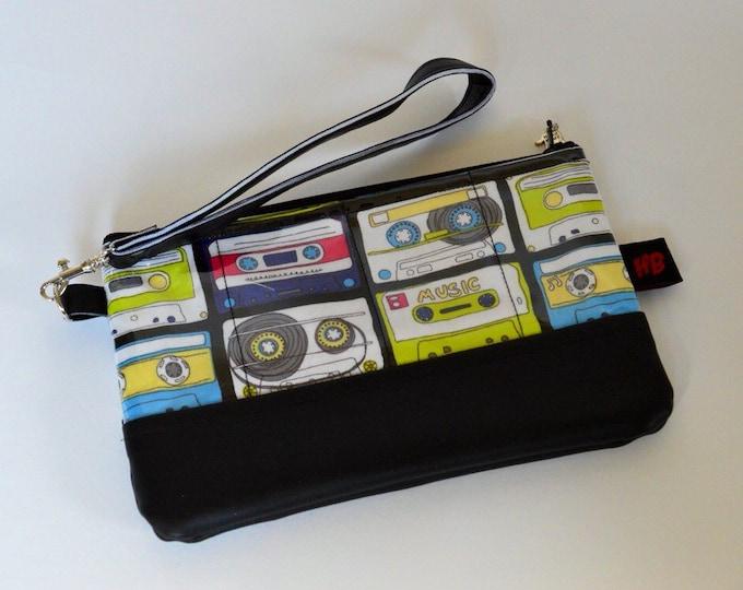 Unique Handmade Cassette Wristlet With Strap