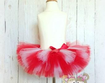 Red and white tutu - Christmas tutu - candy cane tutu - Valentine's Day tutu - 1st Christmas tutu - Christmas tutu skirt - Holiday tutu