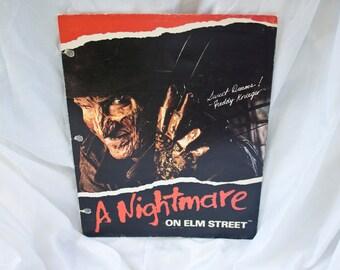 80s Freddy Krueger folder - Vintage Nightmare on Elm Street binder sleeve - New Line Cinema portfolio (A)