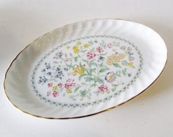 Royal Kent Porcelain Oval Dish, English Relish Dish, Cottage Chic