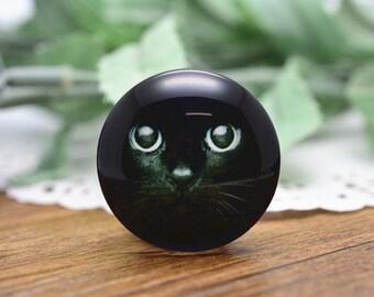 4pcs 25mm Round Handmade Photo Glass Cabochon - Cat