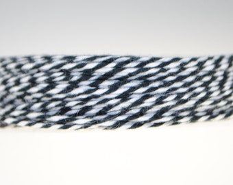 """1/16"""" Bakers Twine 100ft - Black/White"""