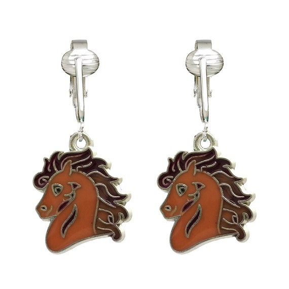 cute cowgirl clip on earrings for kids girls by clipearringshop. Black Bedroom Furniture Sets. Home Design Ideas