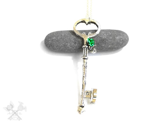 Fairy door fantasy key key to my heart necklace skeleton for Fairy door with key
