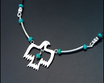 Thunderbird - Sterling silver turquoise necklace