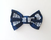 PET BOW - Doctor Who Inspired Pet Bow for Dogs or Cats // Gifts for Dogs // Dog Bow Tie // Pet Bow Tie