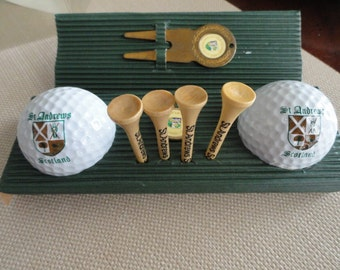 C063)  Vintage Golf Set St Andrews Scotland