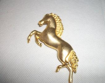 """Golden Stallion """"Ultra Craft"""" Vintage Brooch/ Pin"""