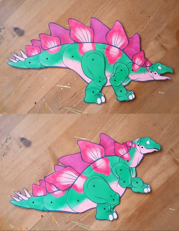 Stegosaurus Paper Doll DIY and Young Adult Digital Download Dinosaur Craft