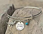 Dinosaur Bracelet - Dinosaur Charm Bracelet - Rawr Means I Love You Bracelet - Dinosaur Charm - T Rex Bracelet - Dinosaur Jewelry -