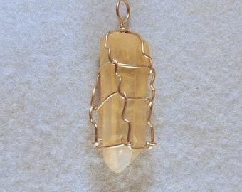 Rare Citrine Generator Mother Wire Wrapped Crystal for Healing Work