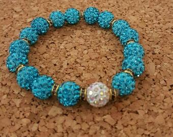 Pave crystal beaded bracelets