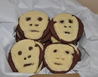 Halloween Cookies Day of the Dead Skulls Chocolate Vanilla 12 pieces