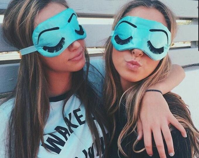 Featured listing image: Eyelashes sleep mask AQUA and BLACK