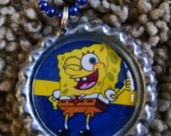 Spongebob Bottle Cap Chain Necklace
