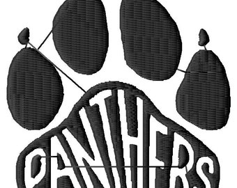 Panthers Paw Digital Embroidery Design