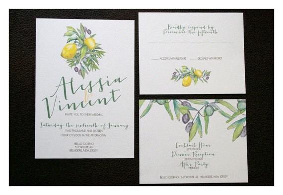 Tuscan Themed Wedding Invitations: Rustic Italian Wedding Invitation Rustic Countryside