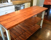 Rustic Kitchen Island-48inch wide-27 inches deep and 36 inches tall- Painted with Real Milk Paint