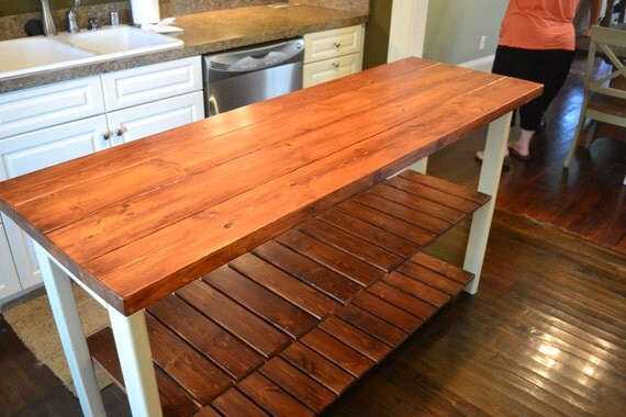 Rustic Kitchen Island 48inch Wide 27 Inches Deep And 36 Inches