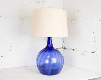 Vintage Handcrafted Blown Glass Lamp Made in Mexico