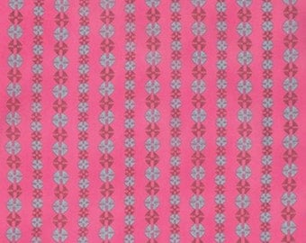 VOILE - Amy Butler - Bright Heart - Stitchy Dots - Cherry