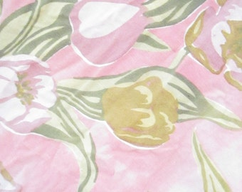 Vintage fabric with  with roses curtain shabby chic prairie romantic cottage