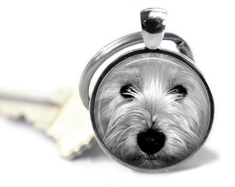 West Highland White Westie Dog Pendant Necklace or Keychain