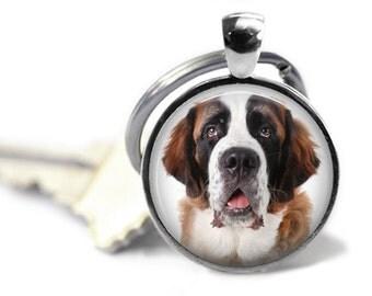 Saint Bernard Dog Keychain