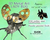 Metal Art Lady Bug, by Brown-Donkey Designs, Garden Art, Insect Art