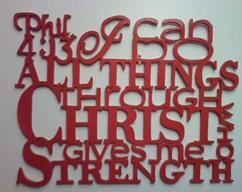 Scripture Wall Art I Can Do All Things Phil.4:13