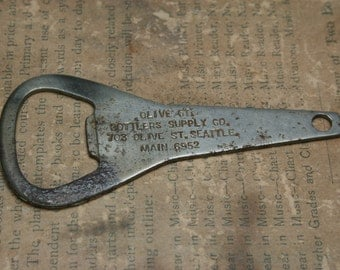 Vintage Olive St Bottlers Supply Co Bottle Opener