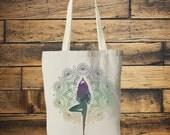 MANDALA YOGA BAG- Tote bag - Yoga bag - Mandala bag -Yoga tee - Hippie bag - Screen print - Back to school - Tote - Namaste - Bag for Life
