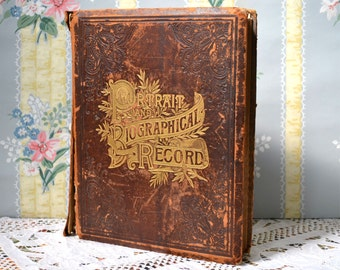 Illinois History Book Portrait and Biographical Record of Hancock, McDonough and Henderson County 1894 Antiquarian