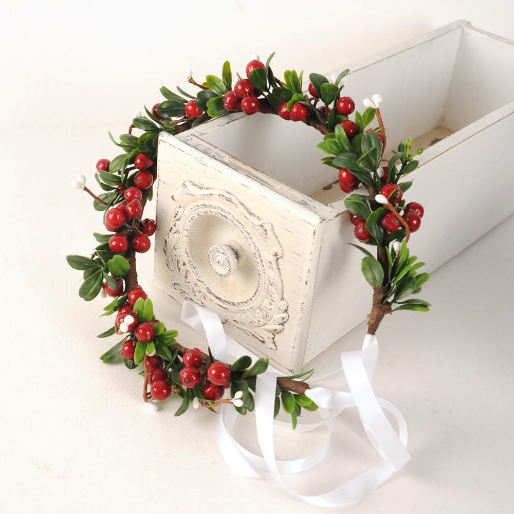 Holiday Headpiece Christmas Flower Crown Festive By