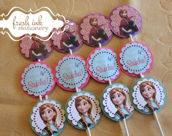 Anna from Frozen Cupcake Toppers