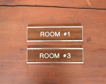 vintage office signage - faux bois - wall signage