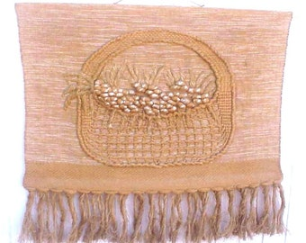 Fabulous Mid Century Jute Large Textile Wall Hanging
