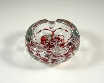 St Clair Art Glass Bowl Ashtray