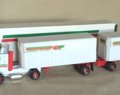 C. 1970's Tonkin Consolidated Freightways CF Tandem Truck Rig NIB + Free CF Hat