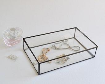 Glass Box Glass Display Box Glass Jewelry Box Wedding Display Box Clear Glass Jewelry Box Made To Order