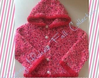 Pink Soft Fleece Like Hoodie Jacket Kids Fall Fashion Size 4/5