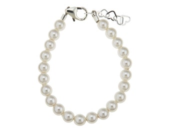 White Pearls baby bracelet  (BPWP)