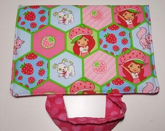 Crayon Art Folio made with Strawberry Shortcake fabric