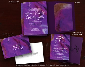 JESSICA (Abstract Art) Invitation Suite Printables