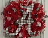 BEAUTIFUL Alabama wreath with Houndstooth A