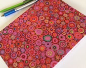 Fabric Covered Notebook – Red Circles Print Fabric
