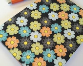 Fabric Covered Notebook – Blue, Green and Orange Floral Print Fabric