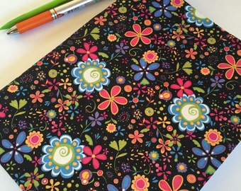 Fabric Covered Notebook – Multi-Color Floral Print Fabric