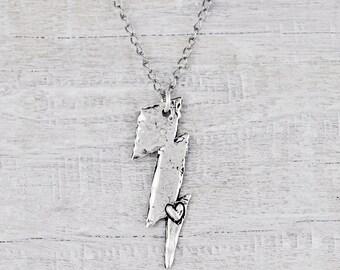 Lightning Necklace- Lightning Bolt Jewelry- Inspirational Necklace - N711
